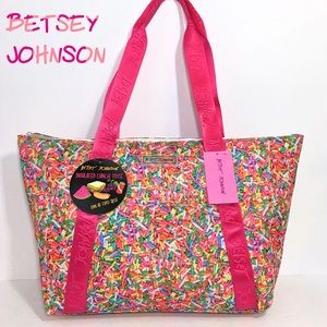 Betsey Johnson Insulated Lunch Cooler XL Tote Bag